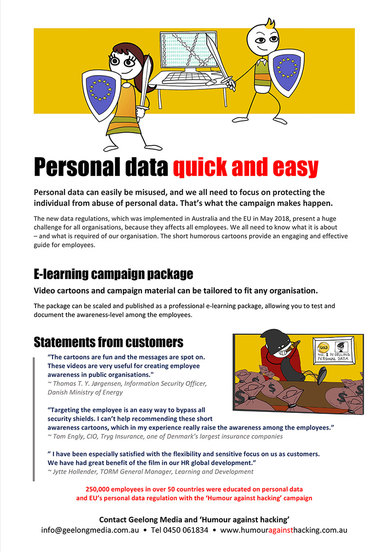 Humour against hacking - an IT security awareness campaign for employees - info sheet page 2